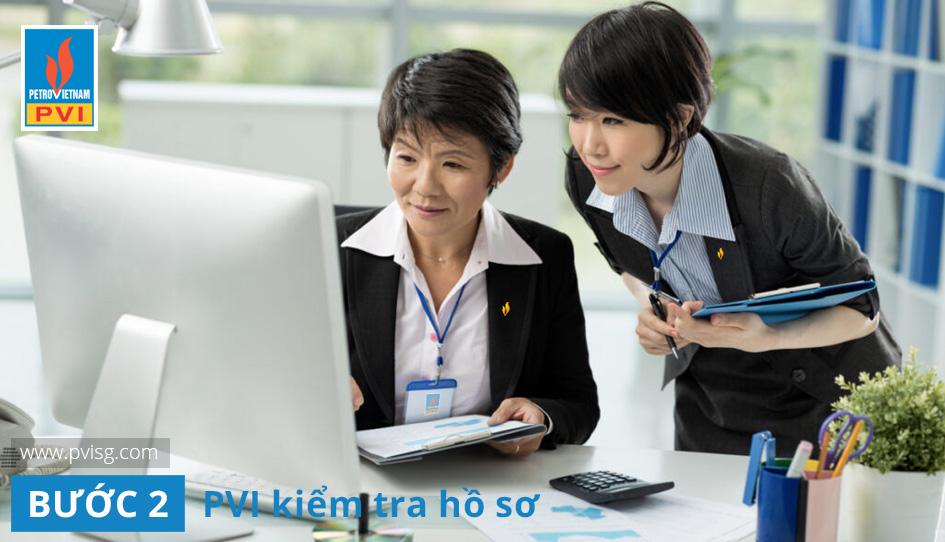 Công ty PVI kiểm tra hồ sơ bảo hiểm PVI Care